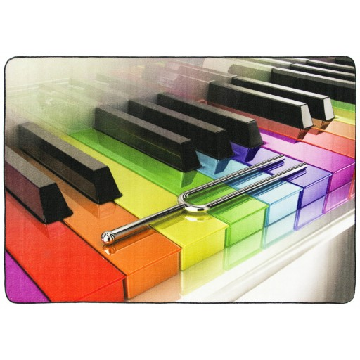 Tapis salon LIGNE PHOTOGRAPHE piano multicolore DEBONSOL