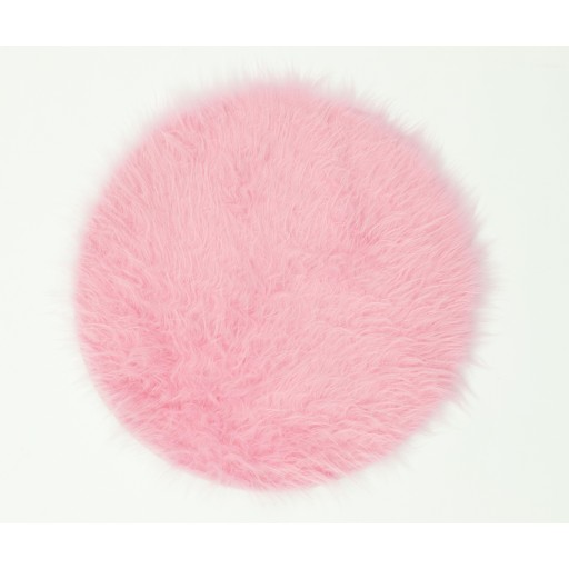 Tapis shaggy FLOKY rond rose DEBONSOL