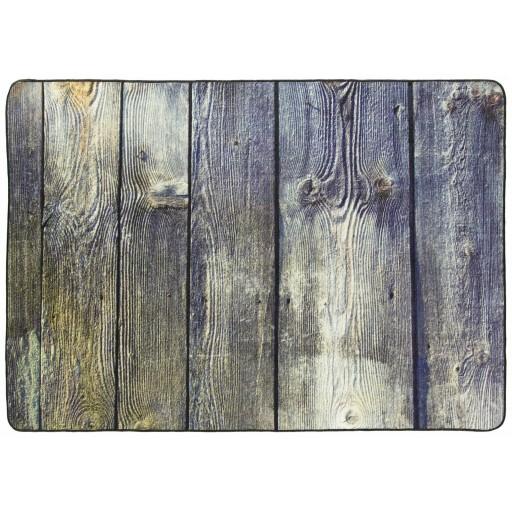 Tapis salon LIGNE PHOTOGRAPHE plancher marron DEBONSOL