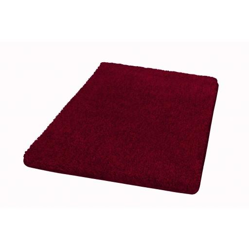 Tapis de bain SEATLE rouge grenat KLEINE WOLKE