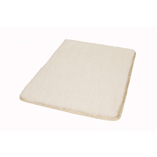 Tapis de bain SEATLE blanc beige chiné KLEINE WOLKE