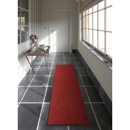 Tapis a la coupe ANTIDERAPANT wash and clean rouge DEBONSOL