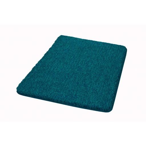 Tapis de bain SEATLE bleu vert chiné KLEINE WOLKE