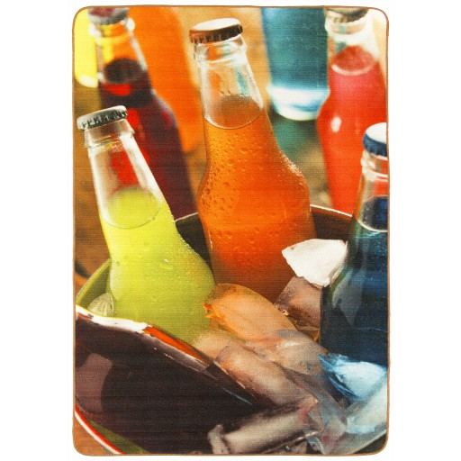 Tapis salon LIGNE PHOTOGRAPHE ice sodas multicolores DEBONSOL